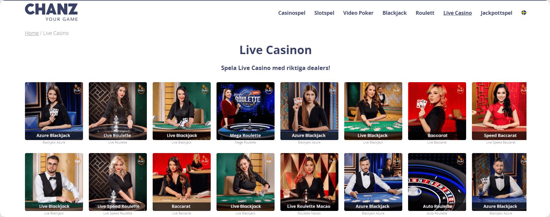 Live Casino Chanz