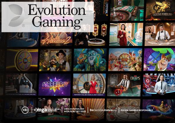 Evolution gaming brands