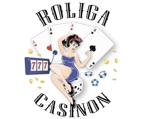 Roliga Casinon logo girl