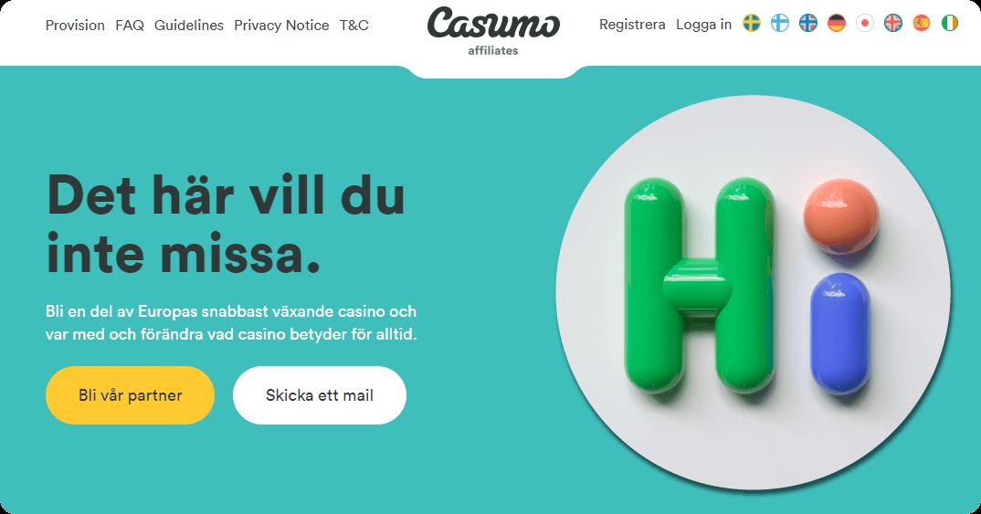 casumo affiliates welcome